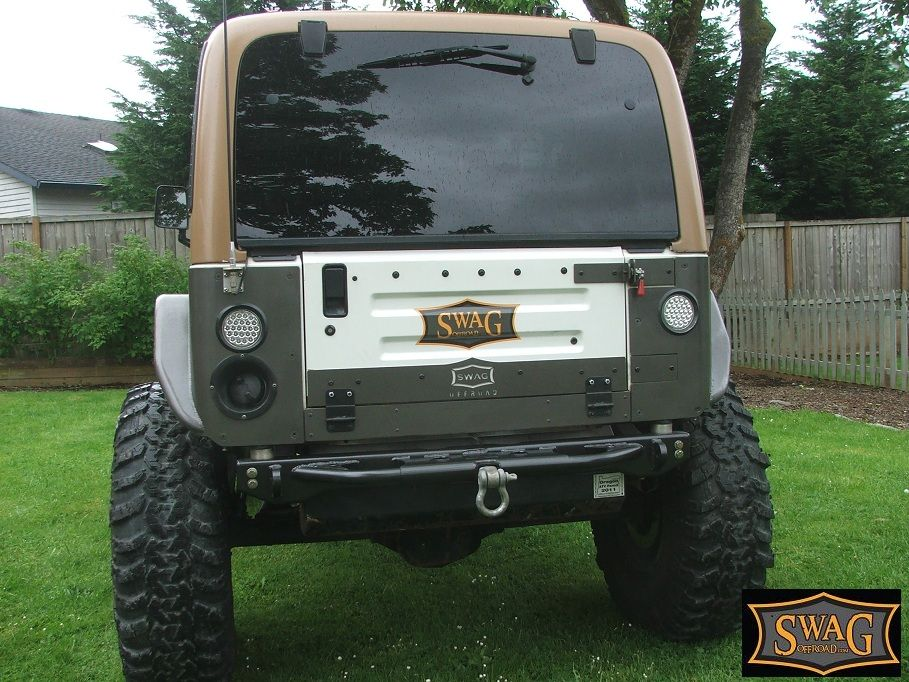 jeep yj tailgate conversion kit swag jeep wrangler aluminum drop down tailgate conversion ... xenon hid conversion kit wiring diagram #12