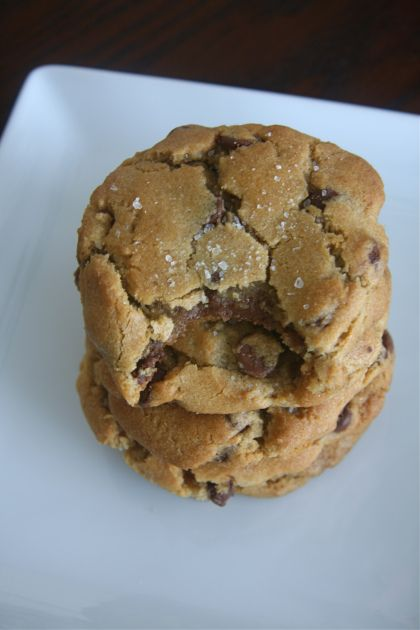 Nutella-Stuffed Browned Butter Chocolate Chip Cookies with Sea Salt. These. Are. Delicious.