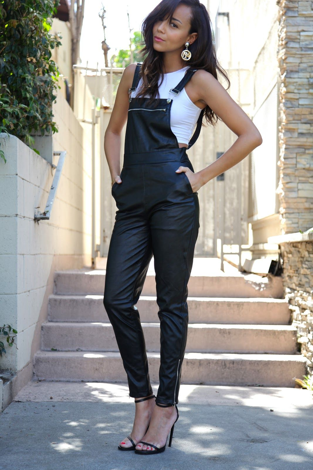 Ashley from Ring My Bell in the Push It Overalls (www.nastygal.com/clothes-bottoms-rompers-jumpsuits/push-it-overalls)