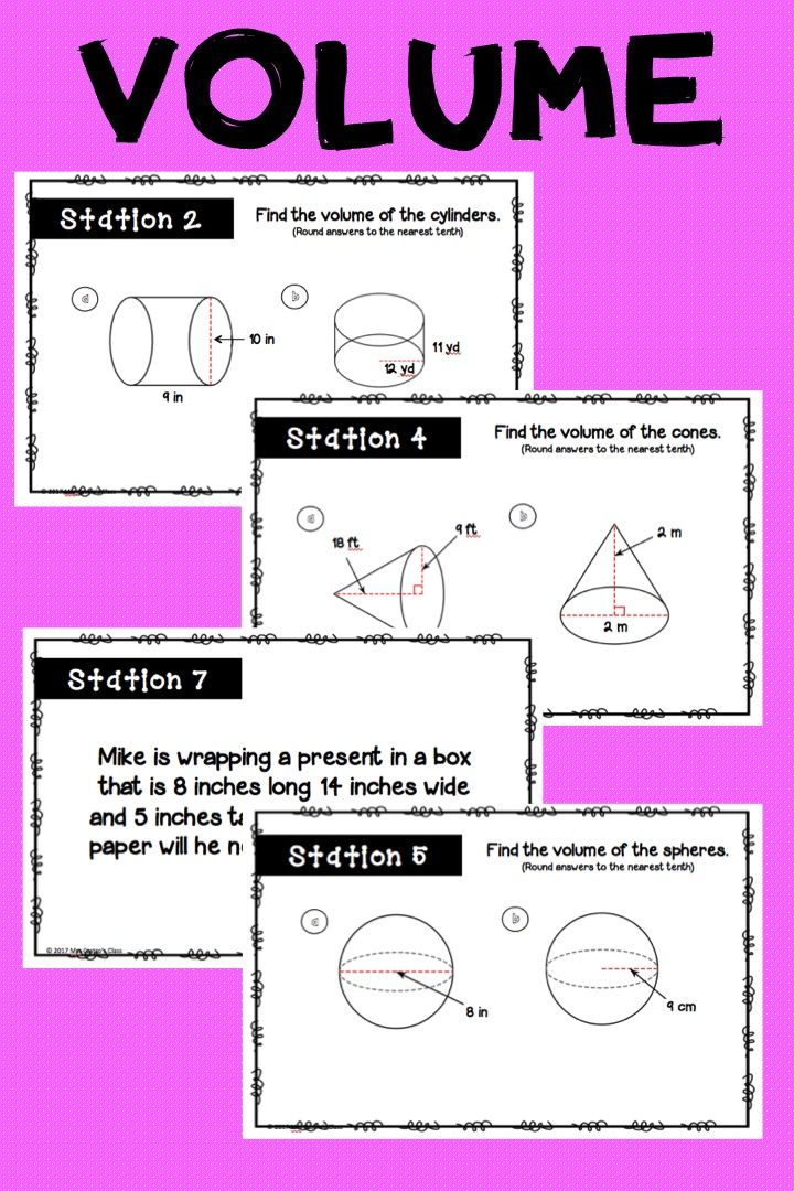 Volume Stations Activity Geometry Resources And