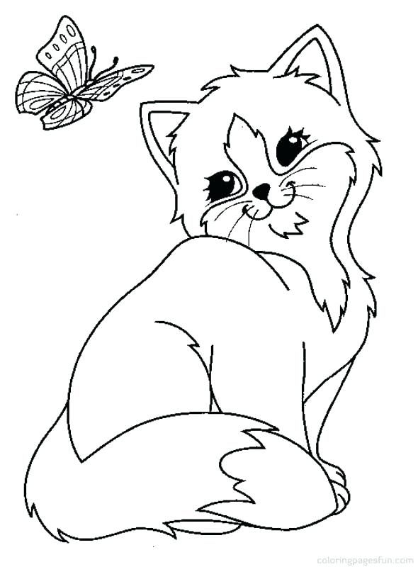 Kitten Coloring Pages To Print Free Printable Cute Realistic Kittens Coloring Cat Coloring Page Animal Coloring Pages