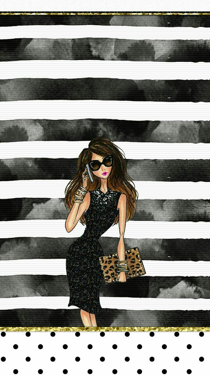 Chic Fashionista Wallpaper Iphone Girly | Fashion Illustration | Iphone wallpaper, Iphone ...