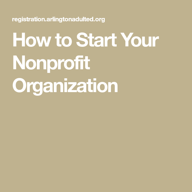how to register a non profit organization