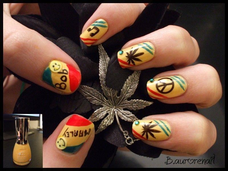 Bob Marley Nails Diy Do It Yourself Pinterest Bob Marley