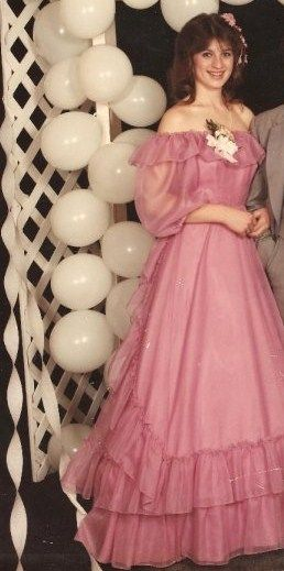 Prom 1985....nice dress!! lol...was even a rented dress...not bought ...