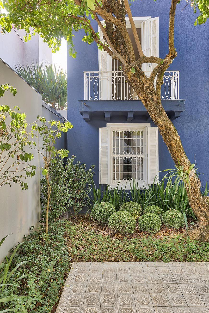 Casa pintada de azul
