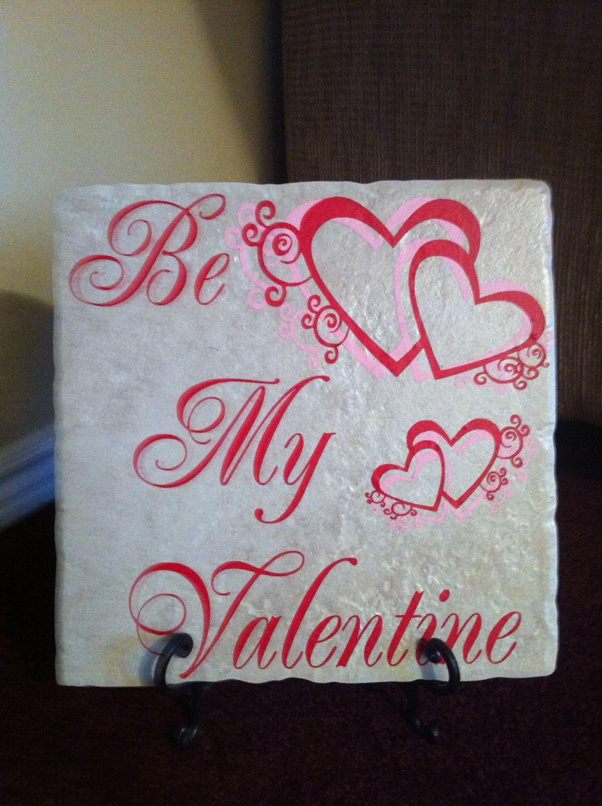 valentine 39 s vinyl tile valentines valentines vinyl tiles valentine day crafts. Black Bedroom Furniture Sets. Home Design Ideas