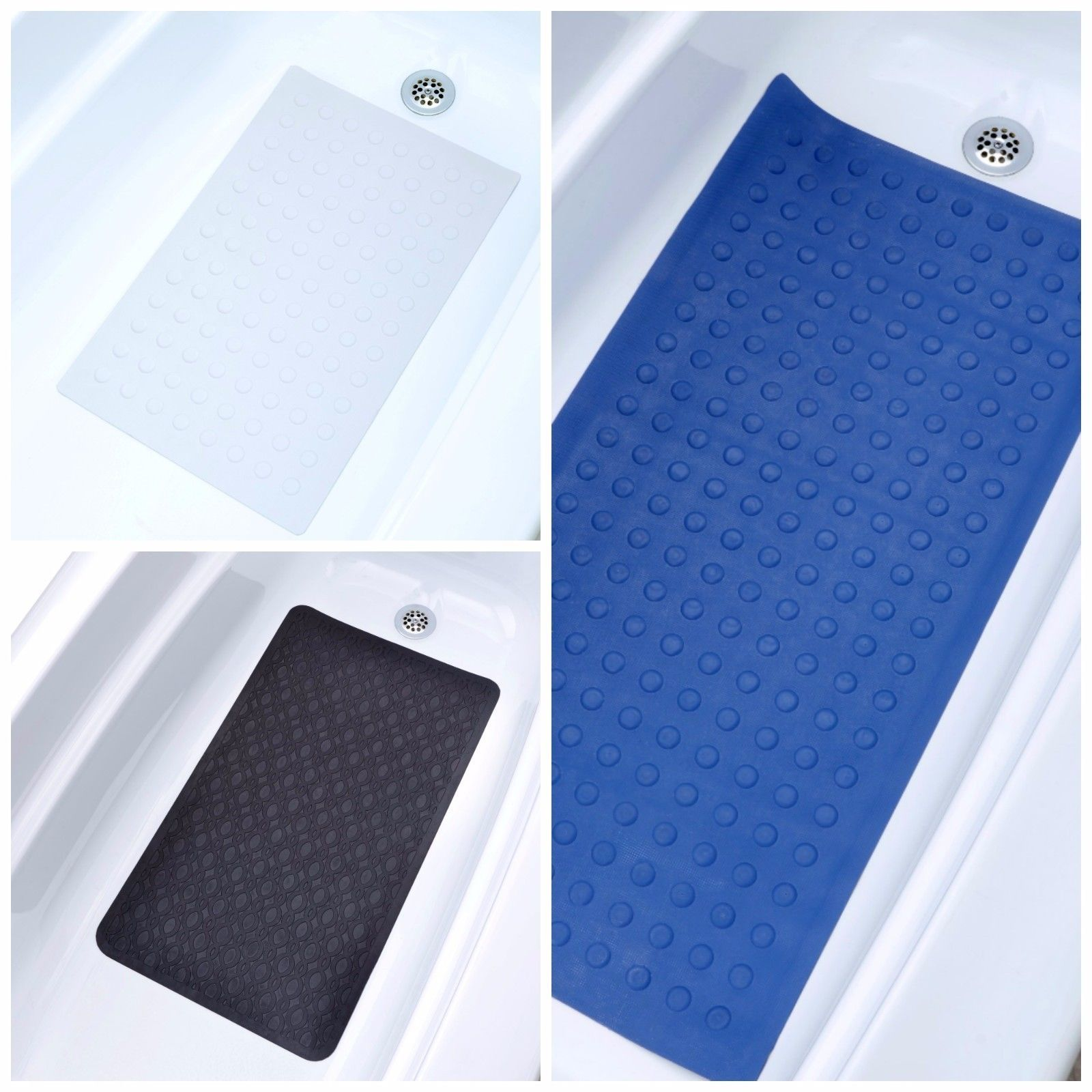 Medium Large Extra Long Rubber Bath Safety Mats Tub Mats With