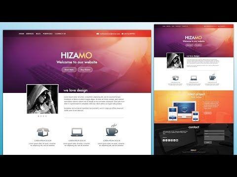Design A Hizamo Portfolio Website In Photoshop Website Design Tutorial Portfolio Website Web Design Tutorials