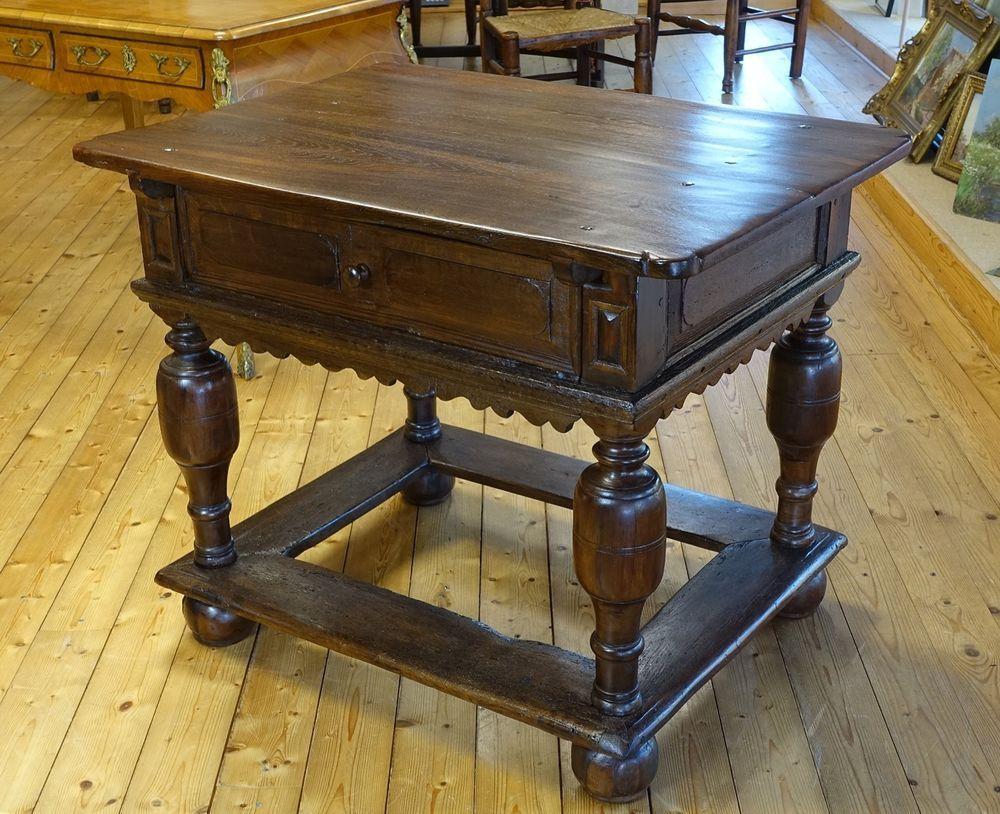 Wohnzimmertisch Barock ~ Details zu kleiner barocktisch barock tisch freistehend eiche mit