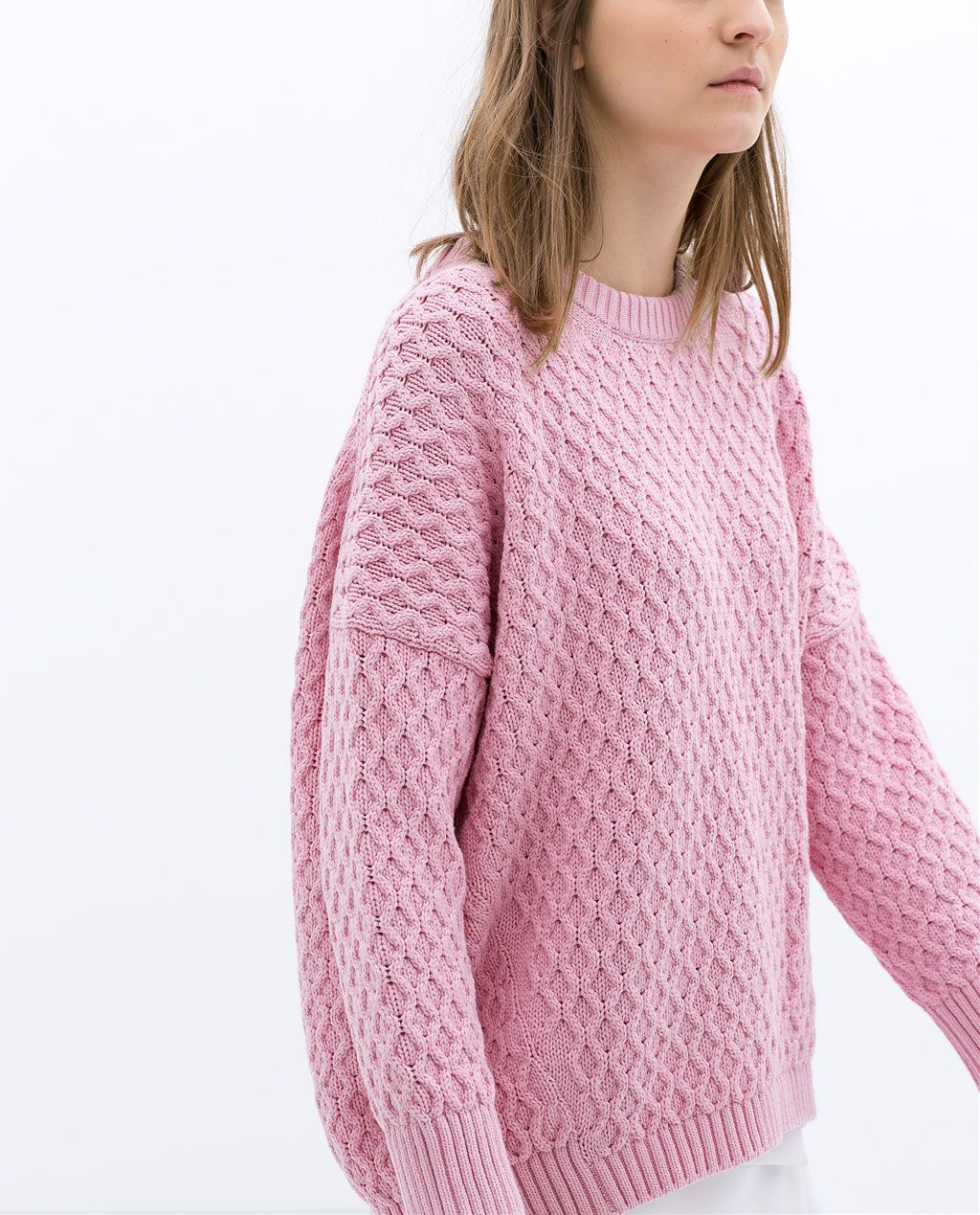 pink oversized sweater | style | Pinterest | Cable, Cable knitting ...