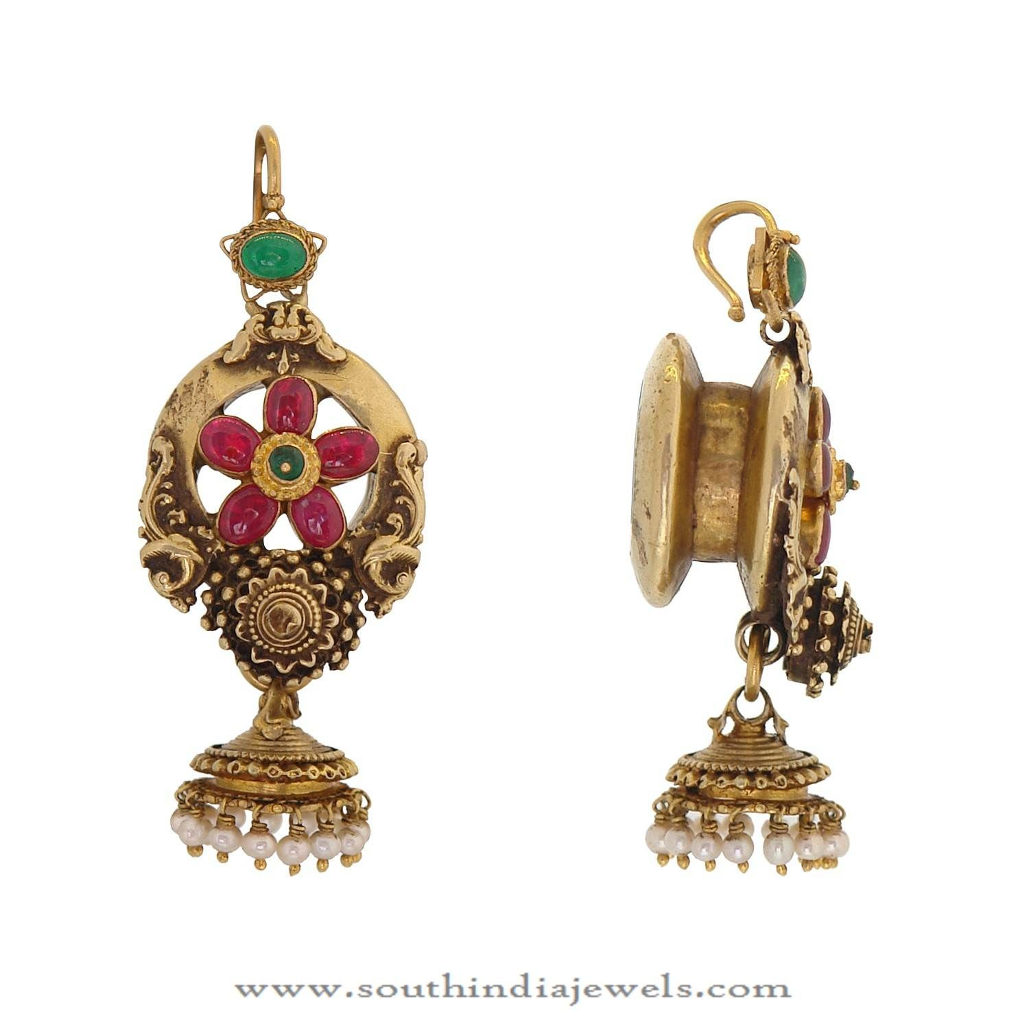 Beautiful Gold Jhumka Design From Prince Jewellery | Gold, Indian ...