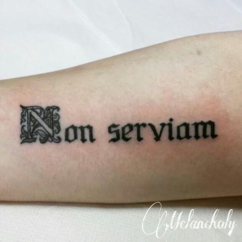 Znalezione obrazy dla zapytania non serviam tattoo