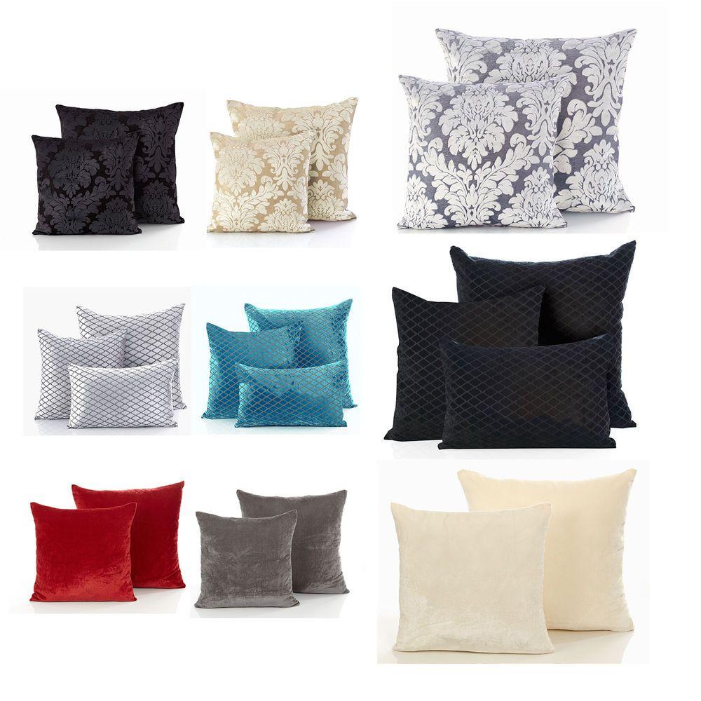 Modern Velvet Cushion Cover Luxury Soft Scatter Small Large