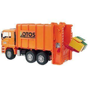 Man Garbage Truck Rear Loading Orange Garbage Truck Trucks Toys Deals