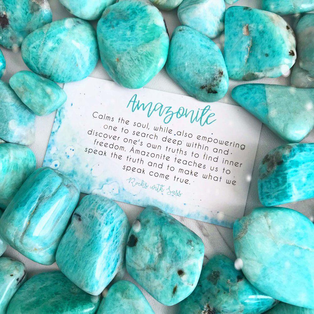 Amazonite Tumbled Pocket Stone Rocks With Sass Spiritual