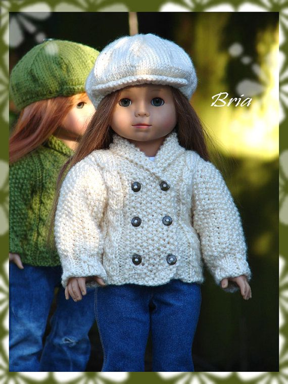 Bria Pdf Doll Clothes A Shawl Collared Cardigan And Sweater