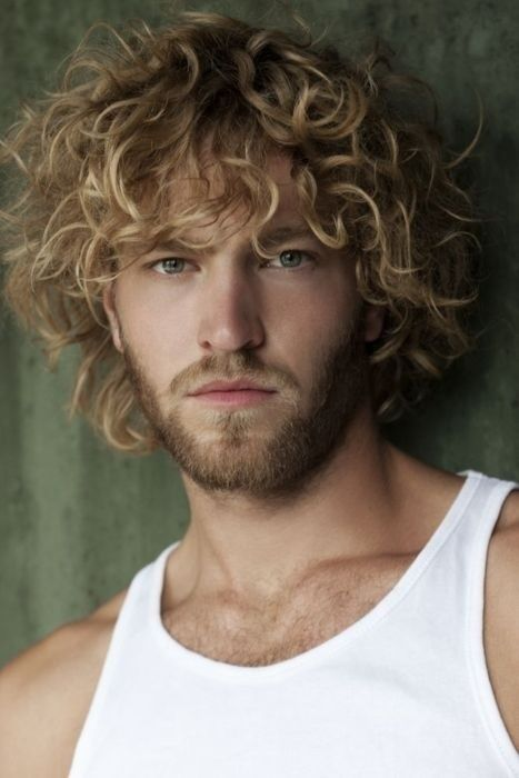 Handsome Young Man With Blonde Beard Cheveux Mec Cheveux