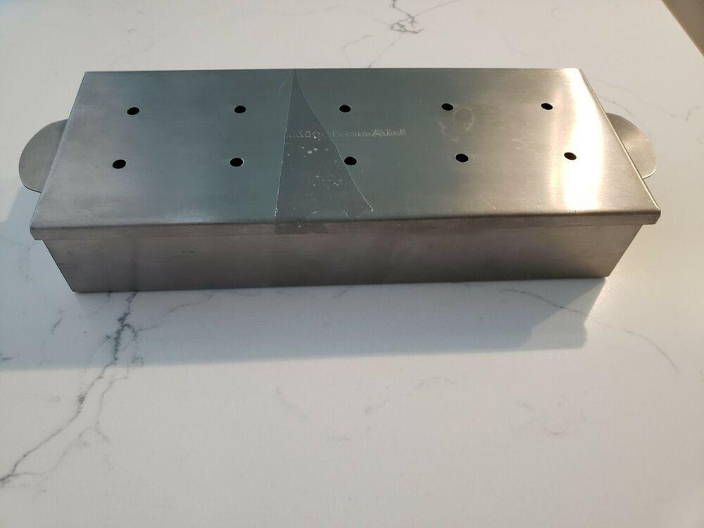 Kitchen aid stainless steel wood chip smoker box 4 x 9