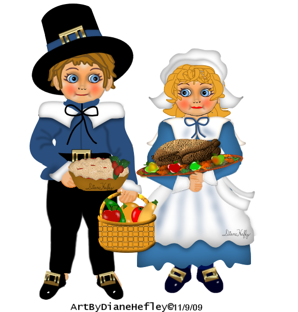 THANKSGIVING COUPLE CLIP ART (With images) Thanksgiving