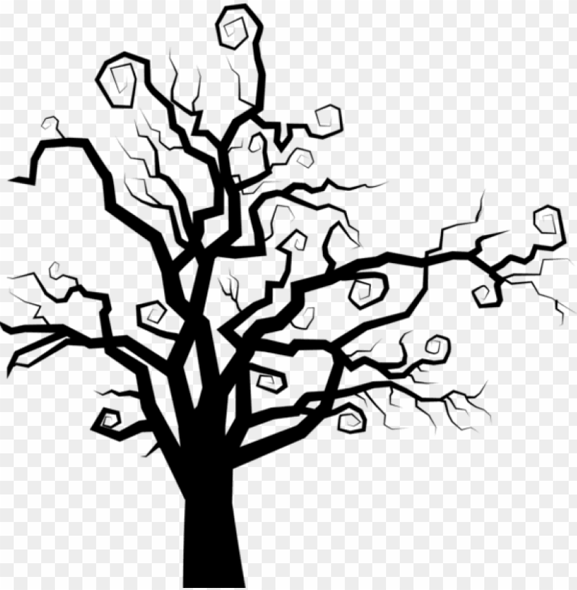 Free Png Download Spooky Tree Silhouette Png Images Spooky Tree Silhouette Png Image With Transparent Background Png Free Png Images Tree Silhouette Spooky Trees Tree Drawing