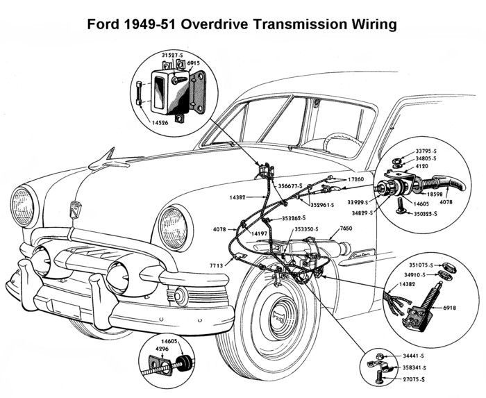 e154fc8cb01ca9a030dd63a3bbd66b93 wiring diagram for 1949 51 ford od wiring pinterest ford Ford Schematics at gsmx.co