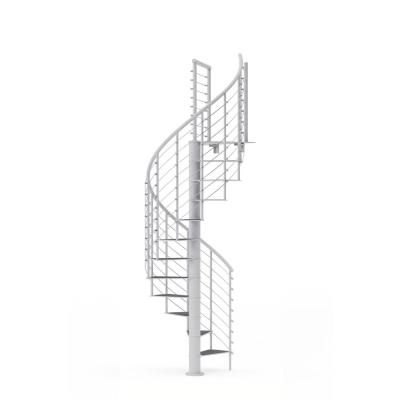 Mylen Stairs Hayden White 42 In 3 Ft 6 In Wide 14 Treads With | 6 Foot Spiral Staircase | Reroute Galvanized | Stair Case | Mylen Stairs | Wood | Metal