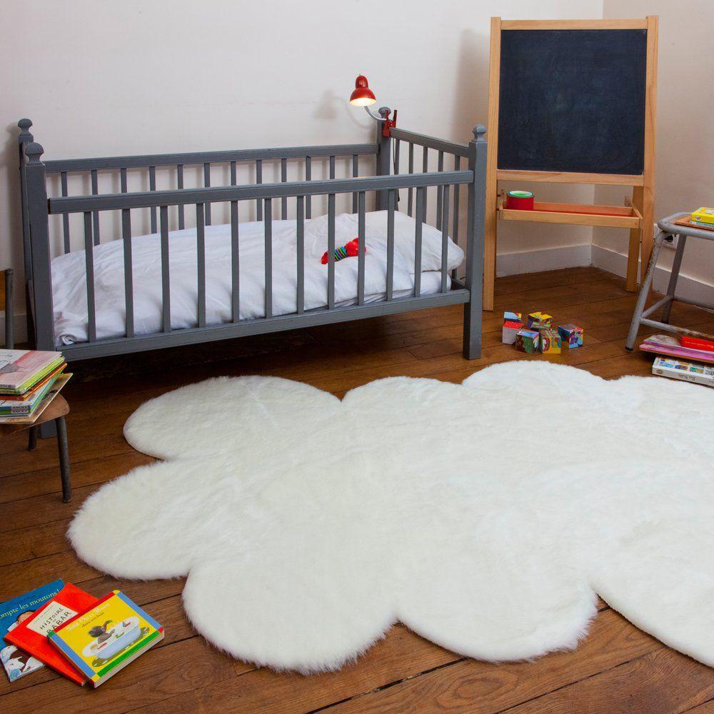 tapis enfant pilepoil nuage blanc 140 x 200 cm fausse fourrure ... - Cuisine Fabrication Francaise