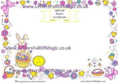 Easter Bunny Certificate Blank By Www Lettersfullofmagic Co Uk