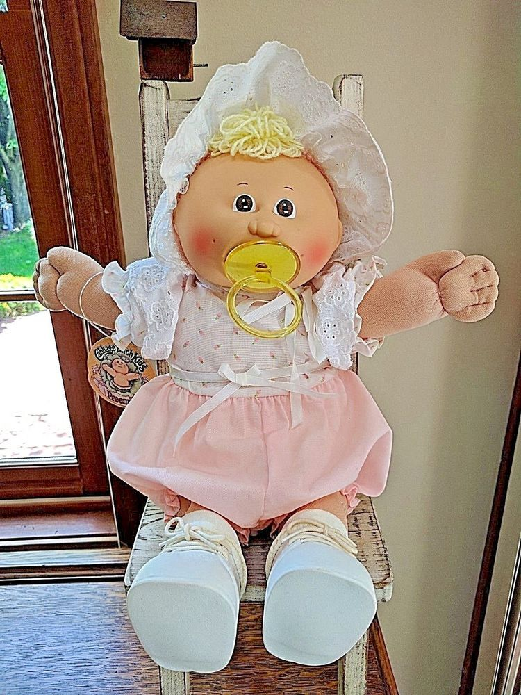1983 1984 Cabbage Patch Doll Preemie Juline Nadine With Adoption Papers Cabbage Patch Kids Dolls Cabbage Patch Dolls Cabbage Patch Babies