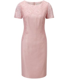 Petite Overlaid Lace Shift Dress