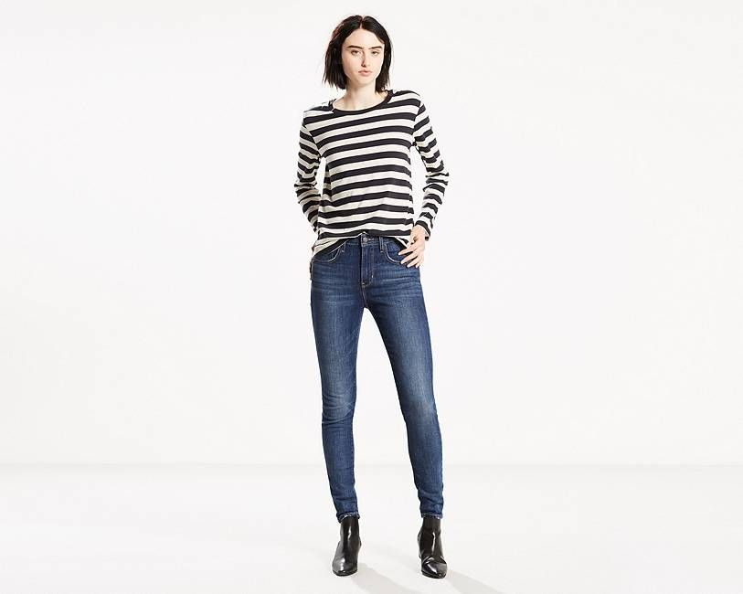 Levi's® signature 'Lot 700' fits are the ultimate look-amazing jeans,  designed to flatter, hold and lift-all day, every day. The 721 High Rise  Skinny Jean ...