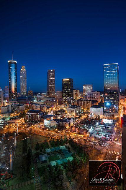 Atlanta Skyline Sunset In 2019 Montlick Associates Attorneys At