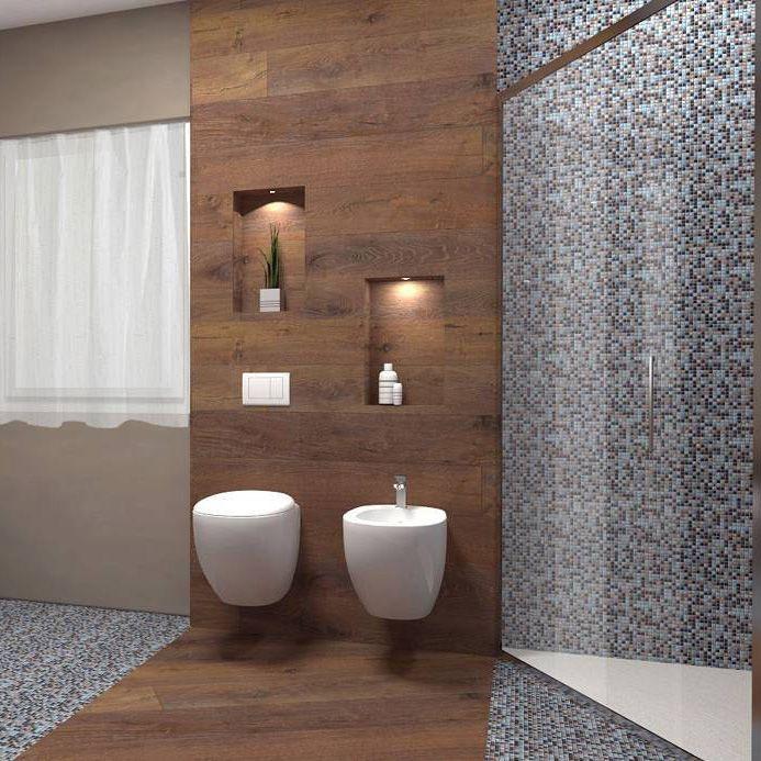 Una stanza da bagno può essere resa unica da un uso mirato dei ...