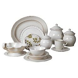 Tabletops Lifestyles -  Big is Great  Have some of these in the white (luncheon/dessert plates) and some in the yellow (platter and bowls) to mix with my Sabatier Le Grande Buffet.