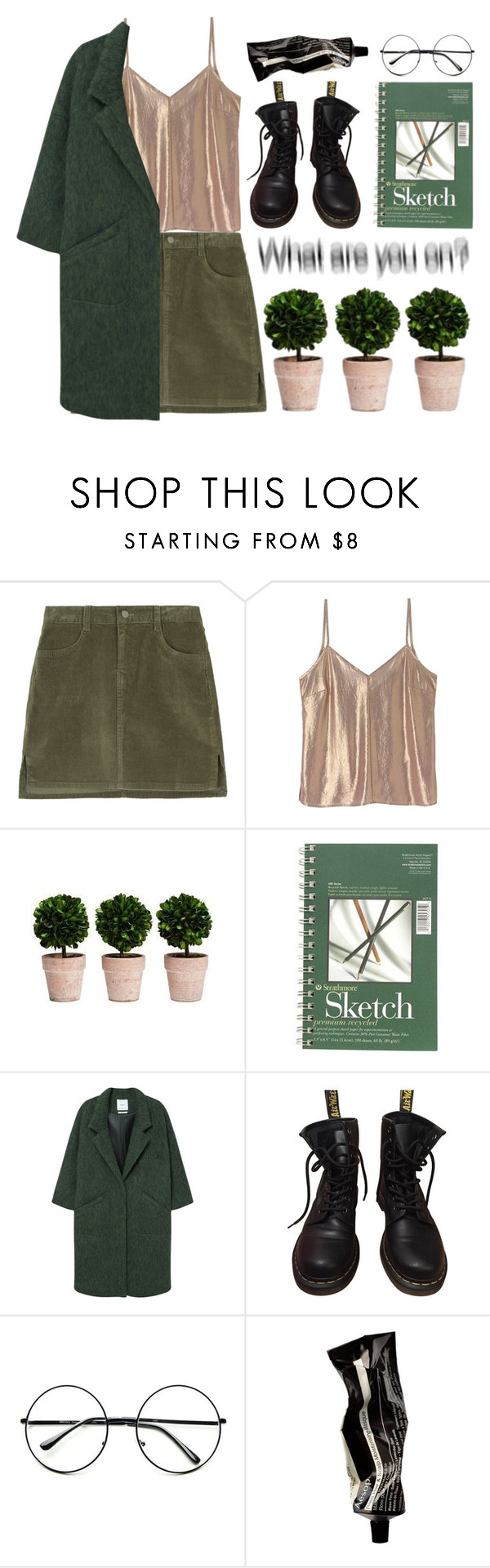 """""""i hope that you're mine"""" by chemical-colin ❤ liked on Polyvore featuring A Day in a Life, MANGO, Dr. Martens, Retrò and Aesop"""