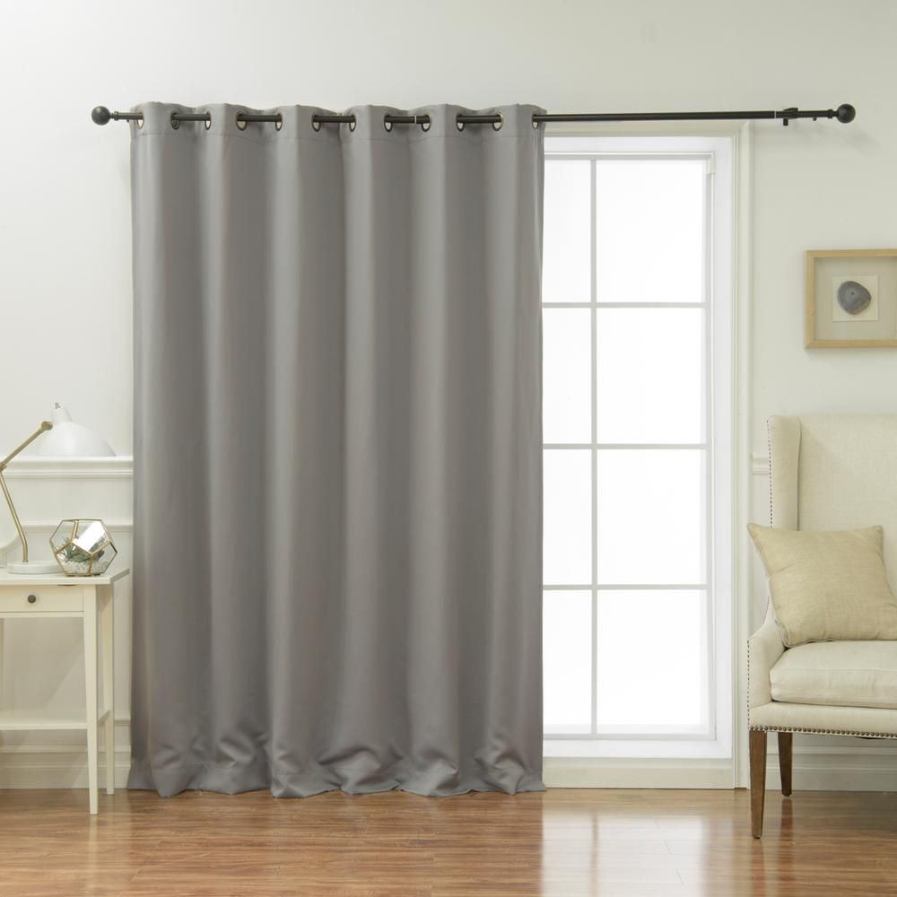 Best Home Fashion Wide Basic Blackout Curtain In Dove 80 In W X