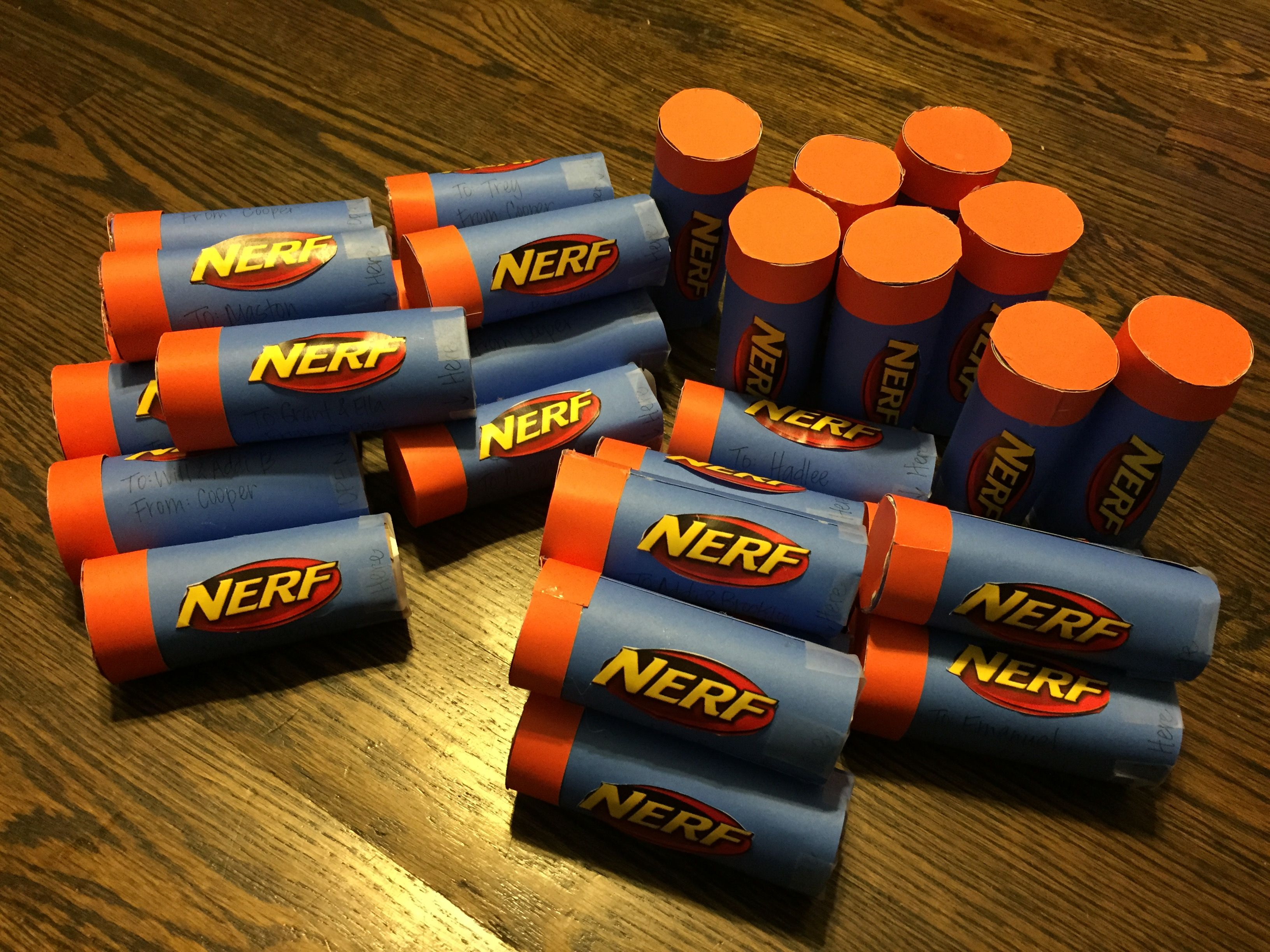 Nerf gun party invites