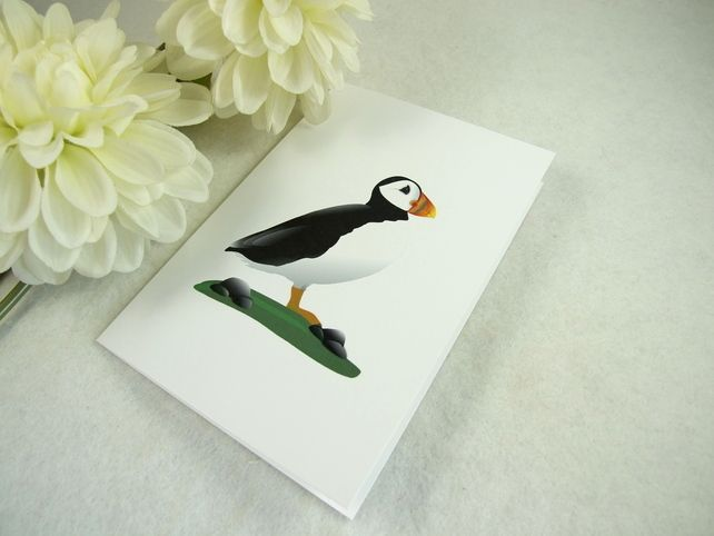 Note Cards, Pack of 4 Note Cards, Puffin Digital Print, Notlets £3.75