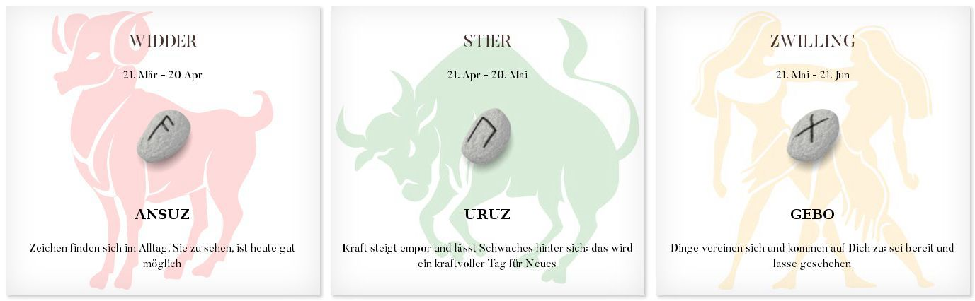 Runen Tageshoroskop 20.6.2016 #Sternzeichen #Horoskop #Tagesrune #Runen