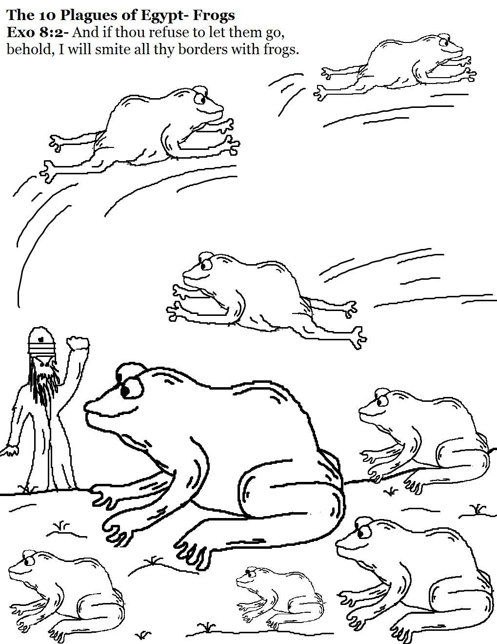 10 plagues The 10 Plagues of Egypt Coloring Pages vbs
