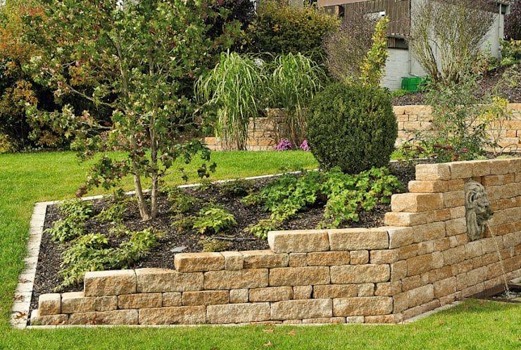 Rasenkantensteine Und Andere Moglichkeiten Der Beetbegrenzung In 2020 Mediterraner Garten Gartengestaltung Garten
