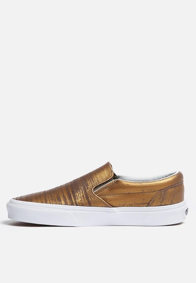 da9ef564bf Vans Classic Slip-On - Brushed Metallic Gold Vans Sneakers