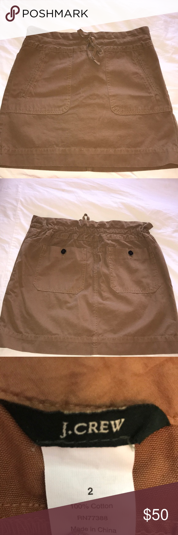 J Crew Skirt Camel Colored Straight Great Condition Skirts Mini