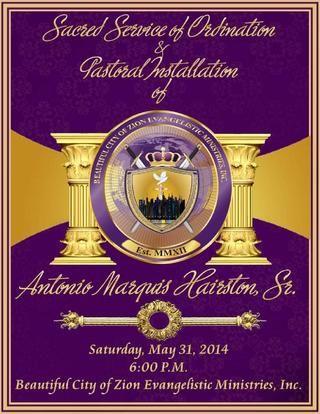 Pastor Installation Program Cover Woof! u003e Evangelist Ordination - best of ordination certificate free