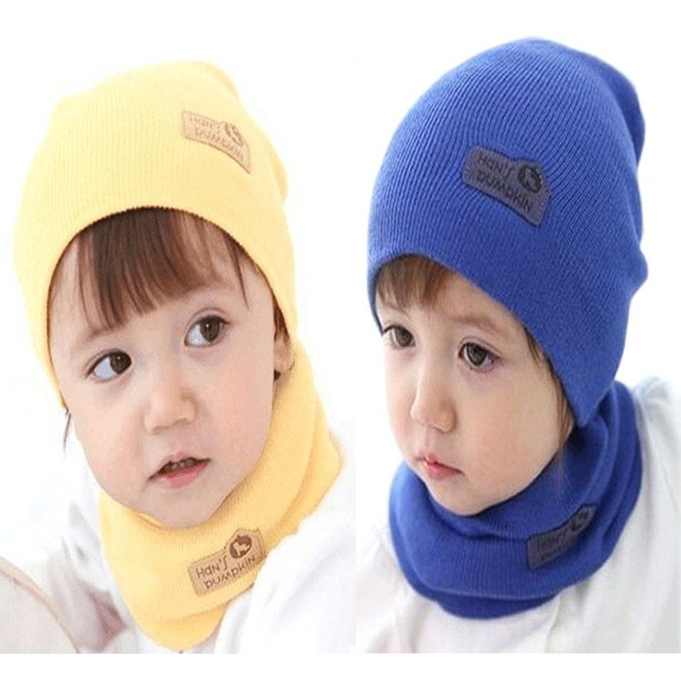 20c509306ac Baby girl and boy hat children winter scarf and cap set two piece letter hat  fotografia newborn photography props touca infantil