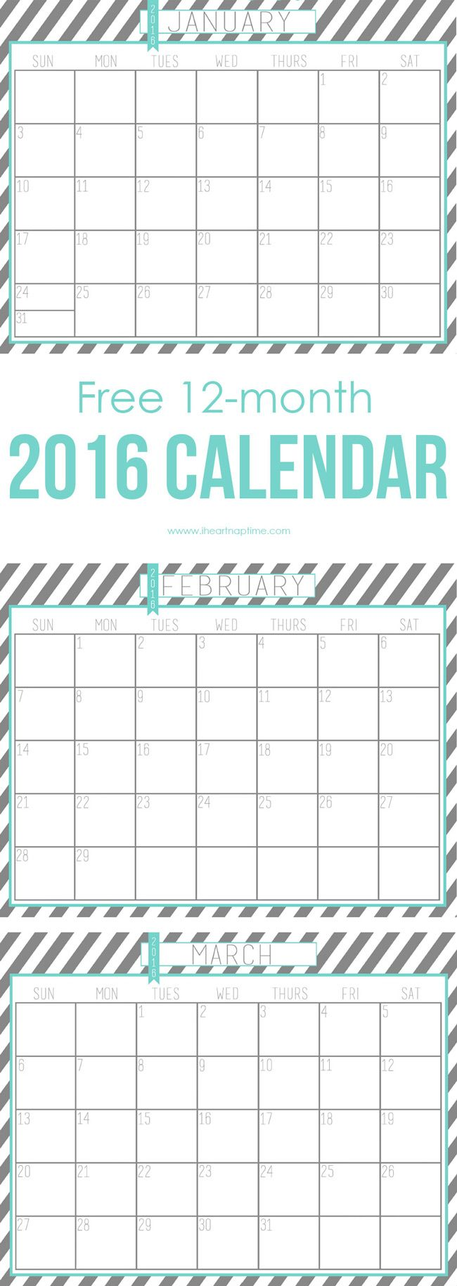 20 Free Printable Calendars to Ring In the New Year Free