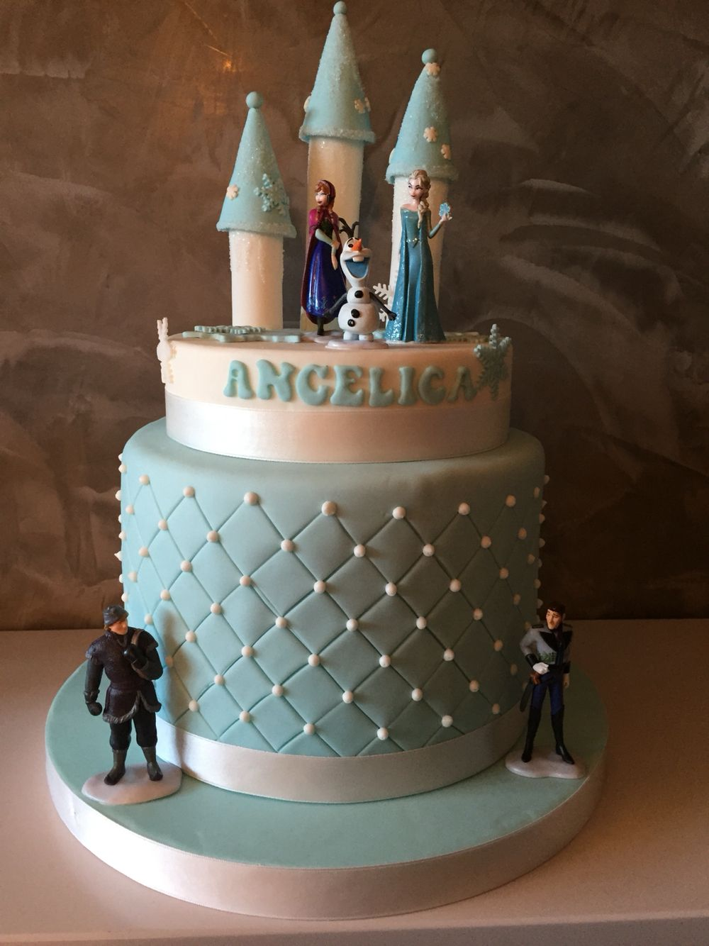 Frozen cake birthday cake Elsa Anna Olaf cartoon