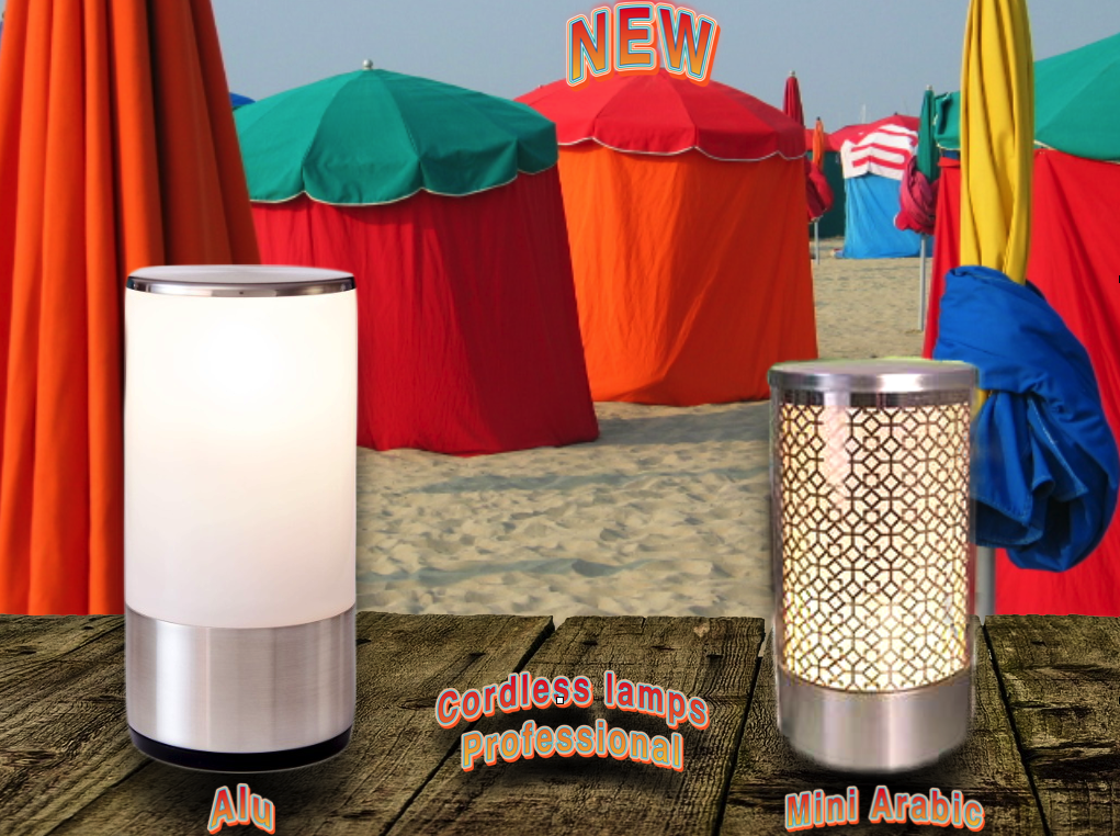 """New table lamps wireless for professionals. Just before the new season was here two; in the Prestige range we present """"Alu"""" and in the Premium Range """"Mini Arabic."""" Alu, a clean design classy and contemporary, is made of acrylic and aluminum Arabic Mini is acrylic and the line is also very modern design. Do not hesitate to contact us for any further information.http://www.midlightsun.com/cordless-table-lamps-197-en-us.html"""