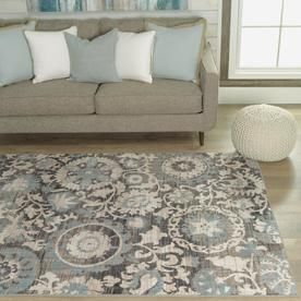 Allen Roth Oyster Rectangular Indoor Nature Area Rug Common 10 X 13 Actual Ft W L At Lowes